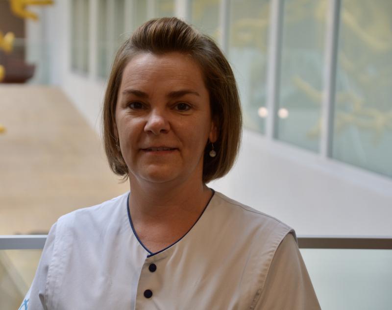 Leslie, de nieuwe verpleegkundige bij Urologie Tielt